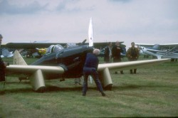 Starting G-ADGP for the 1939 King's Cup re-enactment