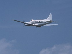 de Havilland Dove departing G-OPLC