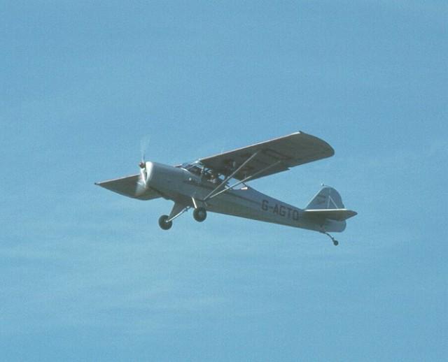 Auster J1 G-AGTO In flight