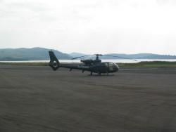 G-OGAZ Gazelle helicopter at Oban