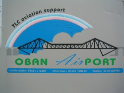 Oban Airport sign